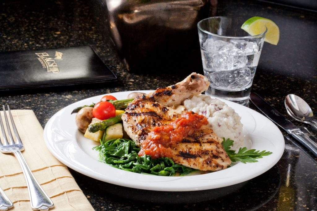 TravelMyHeart-Flagship-San-Diego-Cruises-Fine-Dining-Chicken