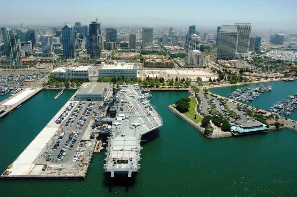 USS Midway & Skyline