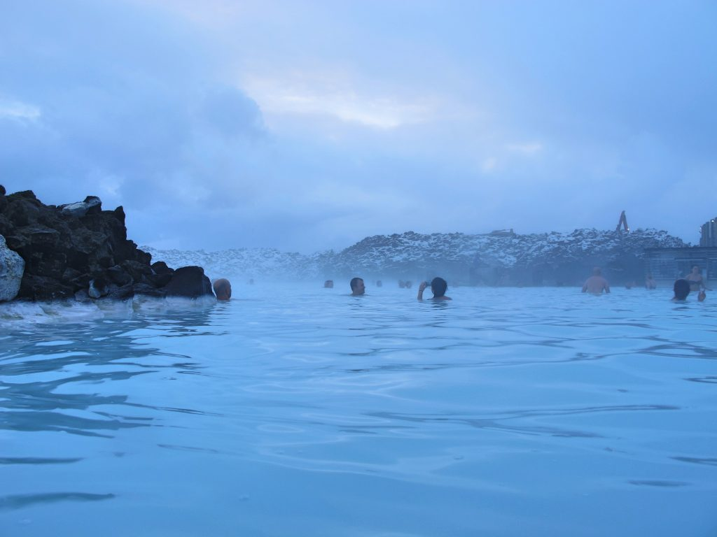 The Blue Lagoon in Winter in Iceland