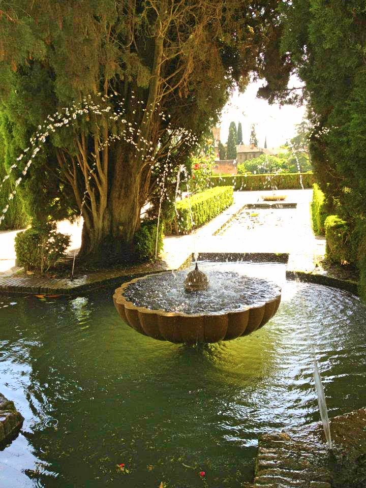 Water Fountain in the Alhambra in Spain